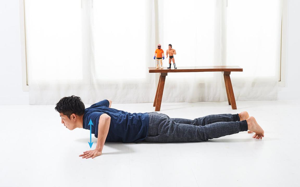 胸筋を鍛える「寝っころがりながらトレ」Advance動作3