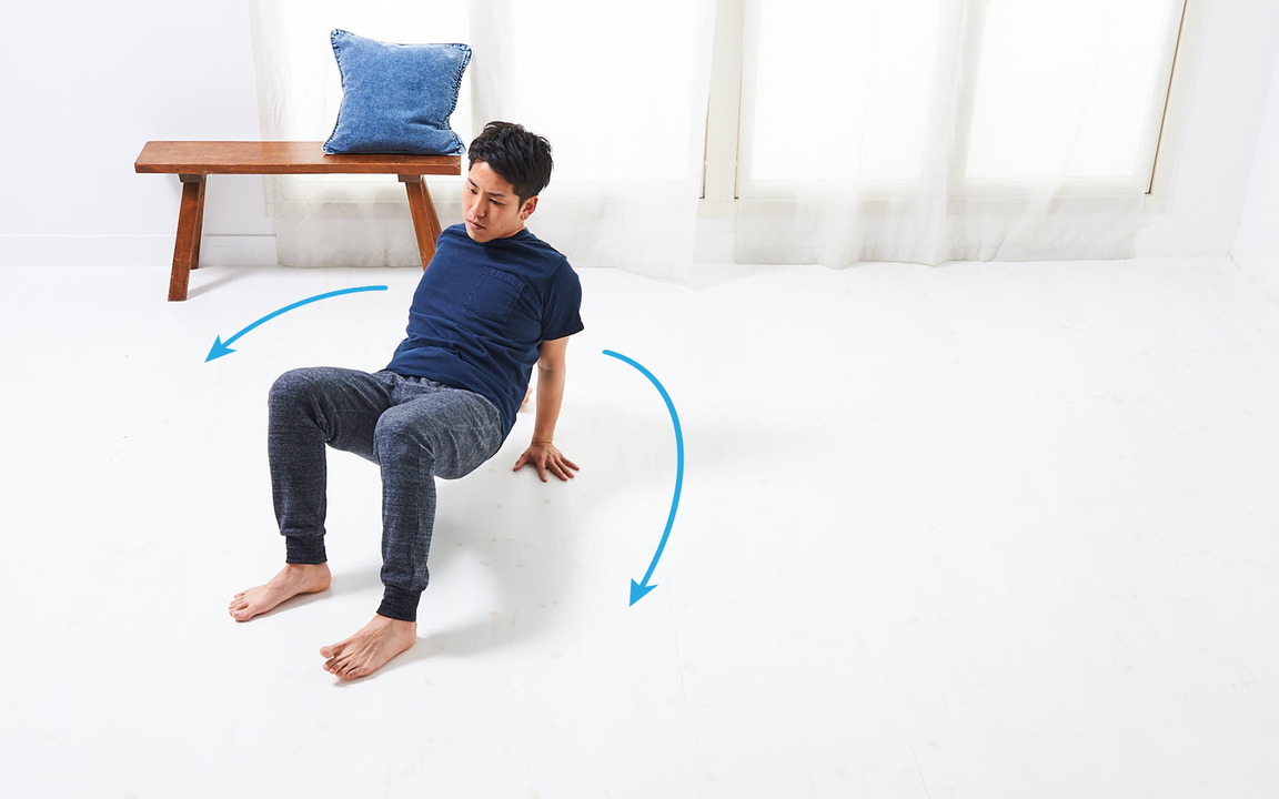 腕の筋肉を鍛える「寝っころがりながらトレ」Advance動作2
