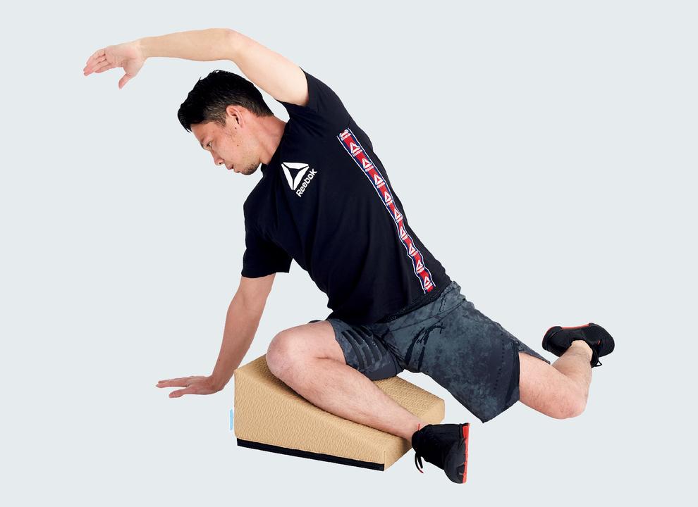 臀筋のストレッチのときも部位にフォーカスしやすい