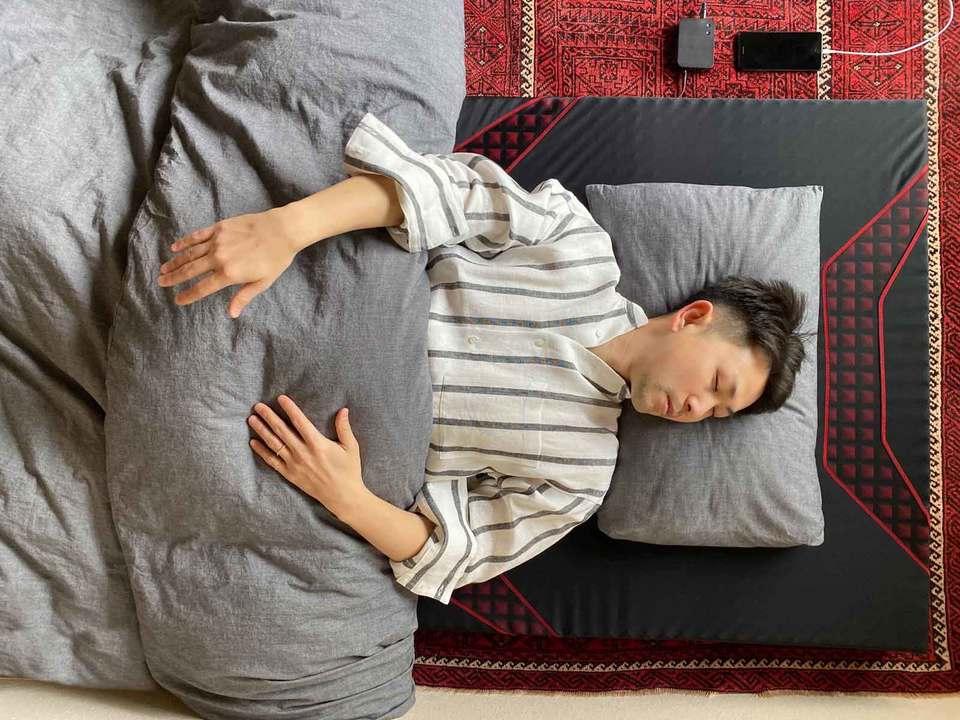 睡眠中のワタベ