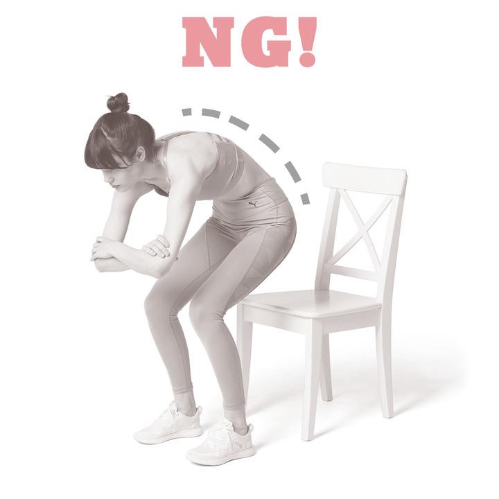 椅子スクワット NGフォーム