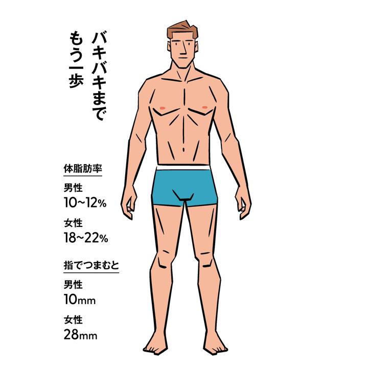 体脂肪率10〜12%